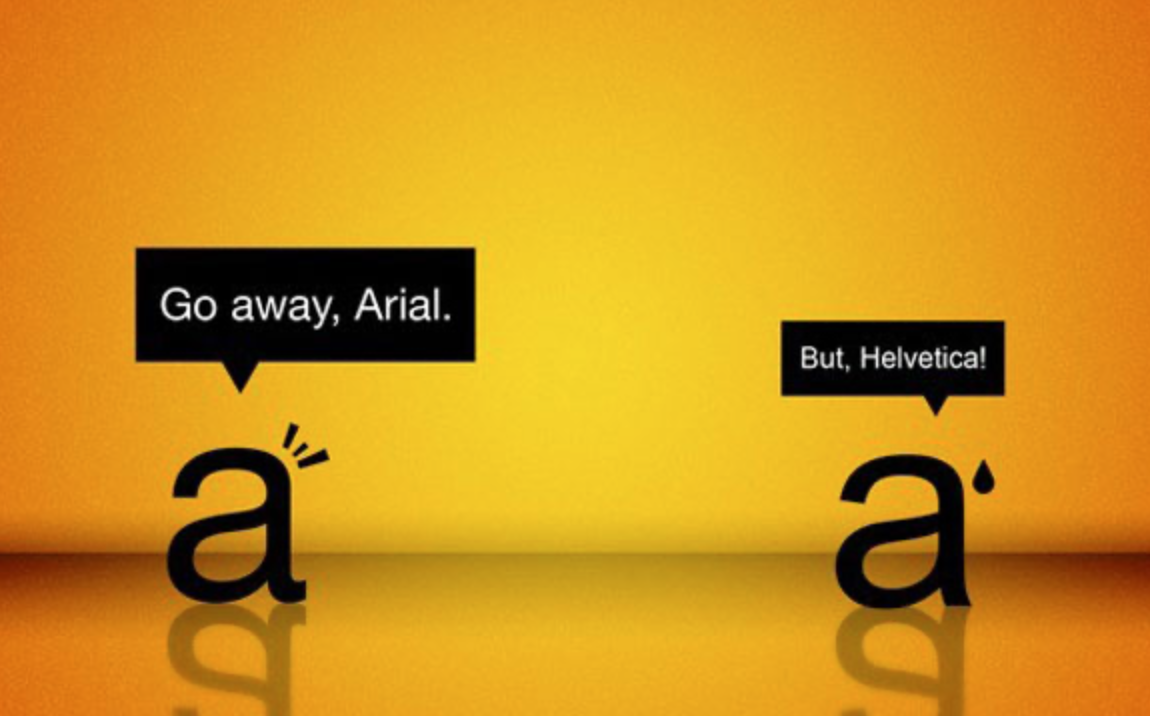 Helvetica and Arial